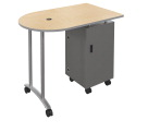 Mobile Teacher Workstation, 47-5/8 W x 30 D x 40 H Inches, Fusion Maple