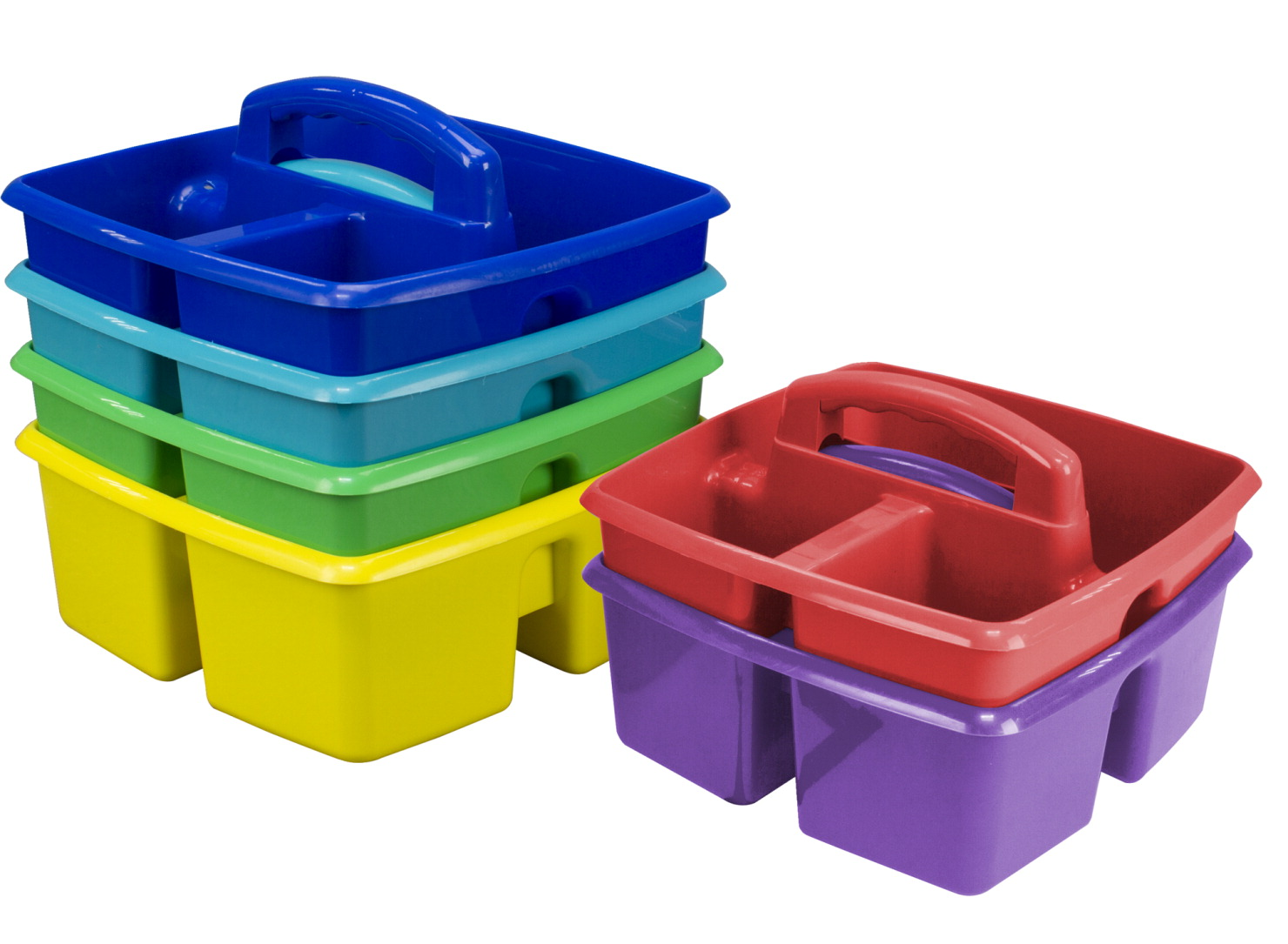 Storex 3 Compartment Supplies Caddy Assorted Colors