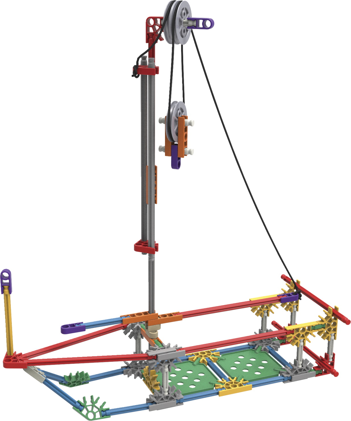 K'NEX STEM Explorations Levers and Pulleys Building Set, 139 Pieces