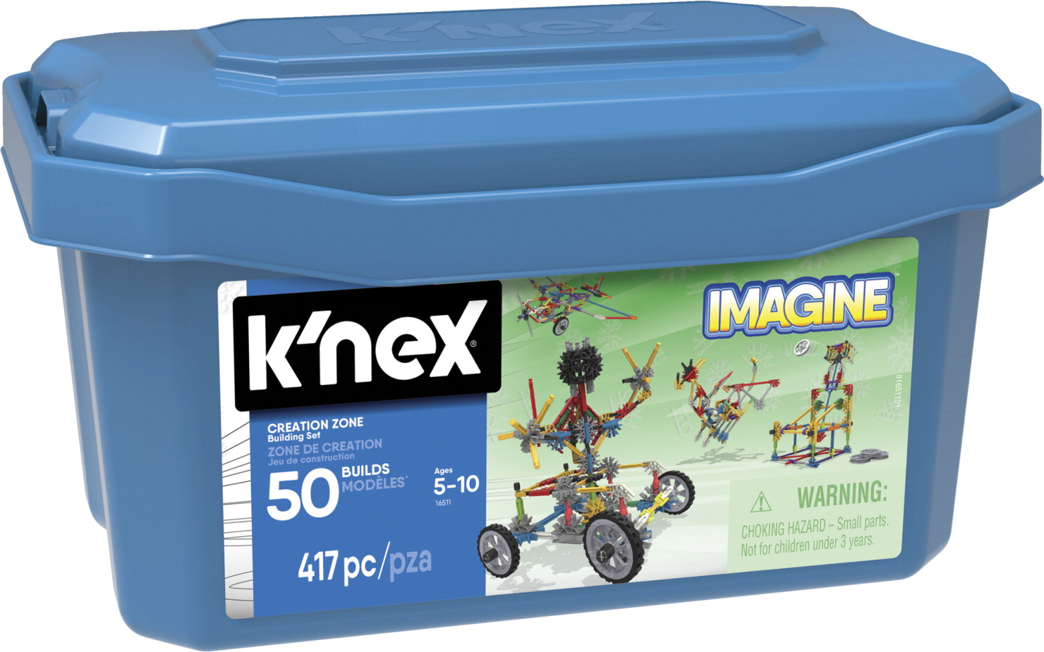 K'NEX Imagine Creation Zone Building Set, 417 Pieces