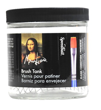 Speedball Mona Lisa Brush Cleaning Tank, 16 Ounces