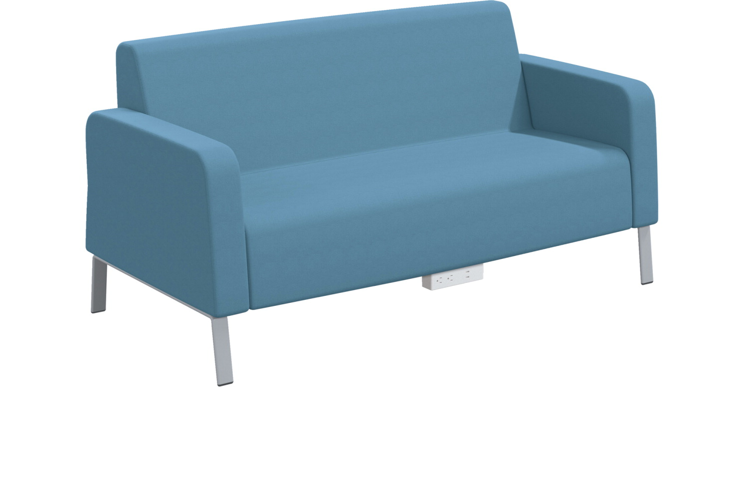 Classroom Select Soft Seating Armed Sofa, Power Under Front, 66 x 32 x 34 Inches, Various Options