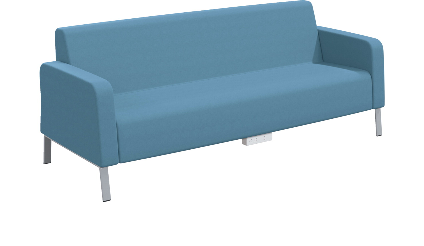Classroom Select Soft Seating Armed Sofa, Power Under Front, 86 x 32 x 34 Inches, Various Options