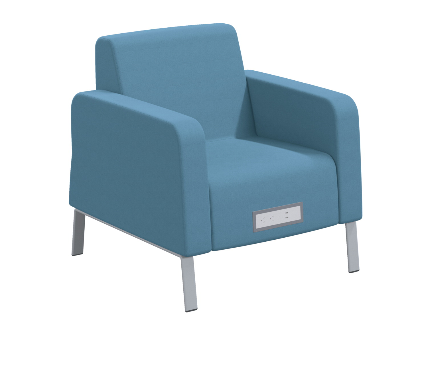 Classroom Select Soft Seating Arm Chair, Power Flat Front, 32 x 32 x 34 Inches, Various Options