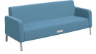 Classroom Select Soft Seating Armed Sofa, Power Flat Front