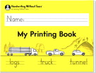 Handwriting Without Tears My Printing Book, Grade 1