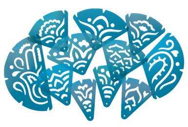 Roylco Mandala Fraction Stencils, Set of 11