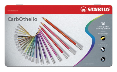 Stabilo CarbOthello Chalk Pastel Coloring Pencils, Set of 36
