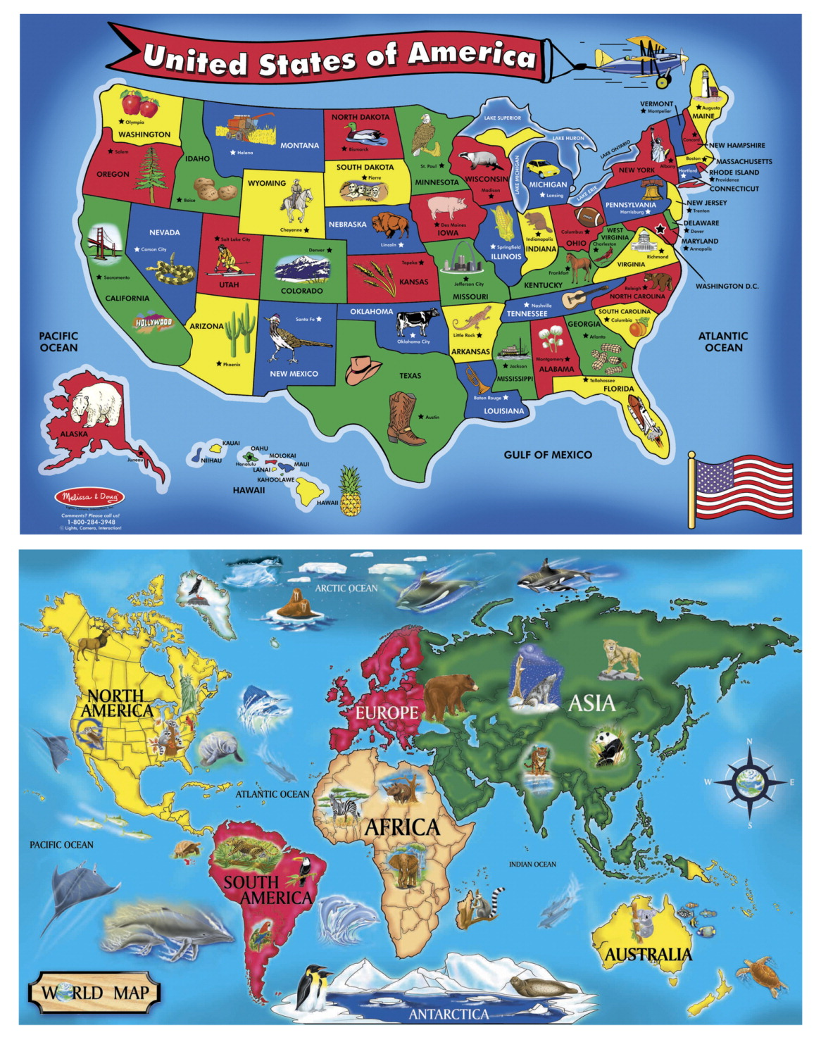 Melissa doug usa and world maps floor puzzle set soar life products melissa doug usa and world maps floor puzzle set publicscrutiny Choice Image