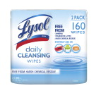 Lysol Daily Cleanser Wipes Two Pack, 80 Count, Case of 3