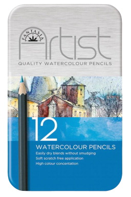 Fantasia Premium Watercolor Pencils, Set of 12