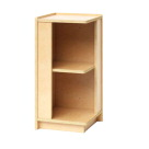 Whitney Brothers Storage Corner Cabinet, 11-3/4 x 12 x 24 Inches