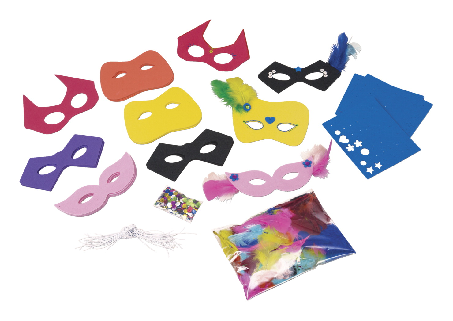 Creativity Street Colossal Craft Masks Kit, Assorted Colors & Styles, Set of 24