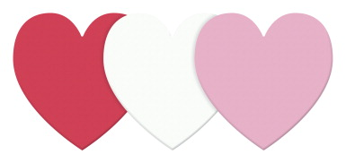 Wonderfoam Large Shapes, 6 Inch Hearts, Assorted Colors, Set of 12