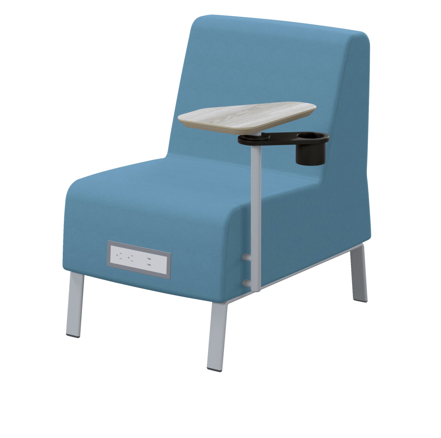 Classroom Select Soft Seating NeoLink Armless Chair, Left Tablet, Power Flat in Front, 23 x 32 x 34 Inches, Various Options