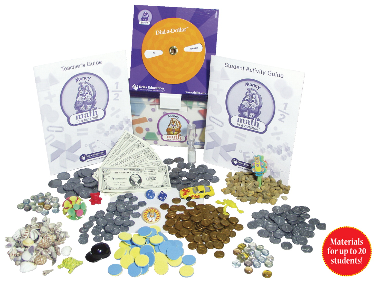 Delta Math In A Nutshell Money Class Pack, Grades 2 and 3