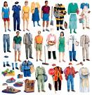 Little Folk Visuals Community Helpers Flannel Set
