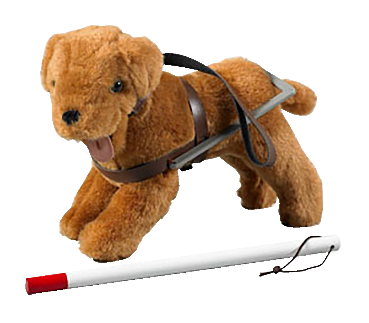 Set Of Dog Stuffed Animals, Seeing Eye Dog And Cane Soar Life Products