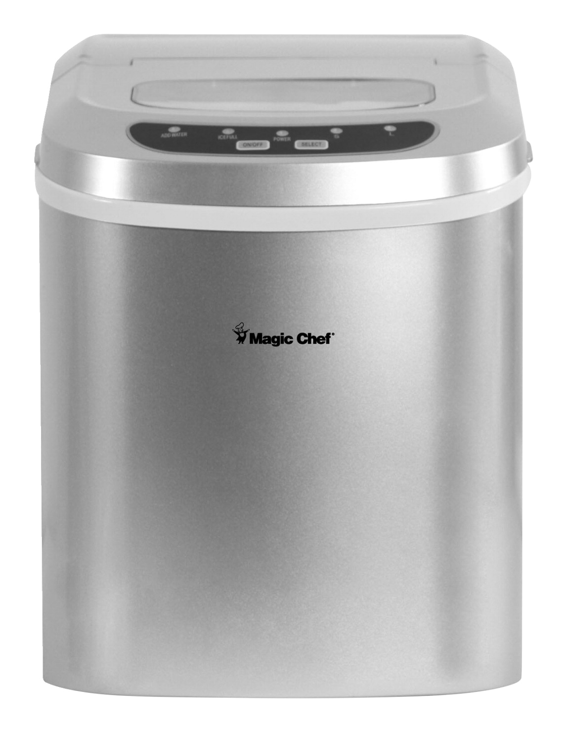 Magic Chef Countertop Ice Maker, 27 Pounds of Ice, Silver
