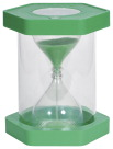 Learning Advantage Giant ClearView Sand Timer, 1 Minute, Green