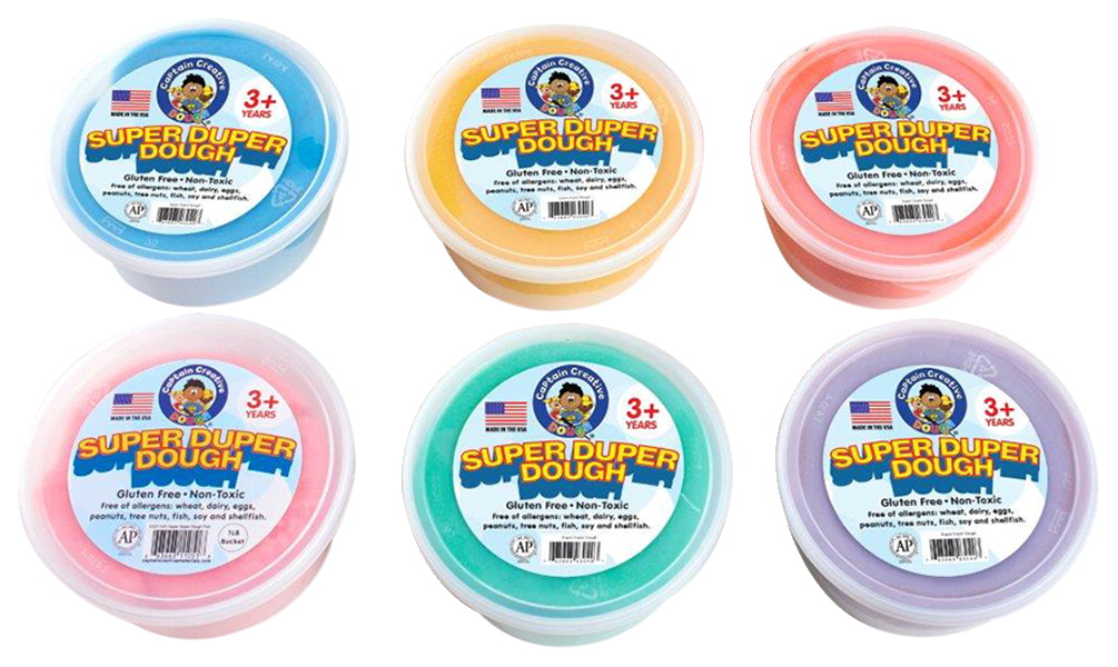 Captain Creative Super Duper Scented Dough, 3 Pound Containers, Set of 6