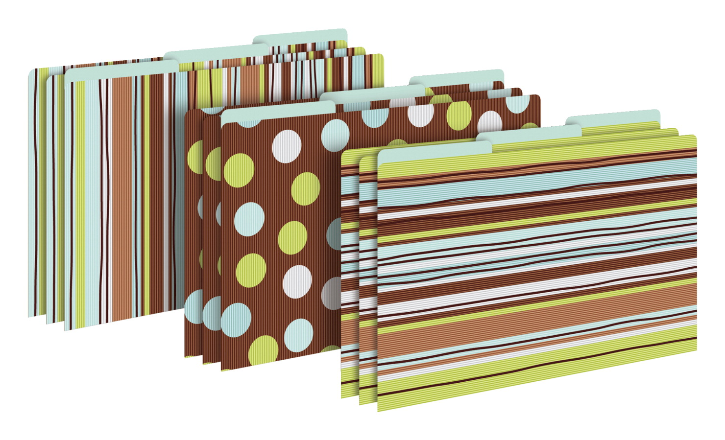 Barker Creek Ribbon by the Yard Legal File Folders, Pack of 9