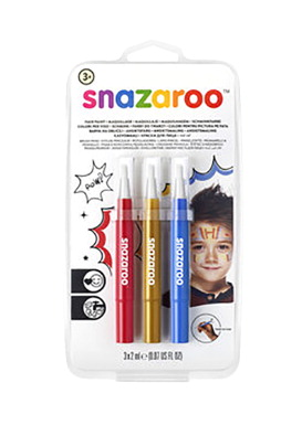 Snazaroo Brush Pen Set, Adventure Colors, Set of 3