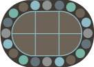 Childcraft Collaboration Circles Carpet, 6 x 9 Feet, Oval, Various Options