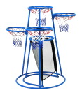 Children's Factory Metal Basketball Stand, 4-Rings, 36-1/2 x 36-1/2 x 54 Inches