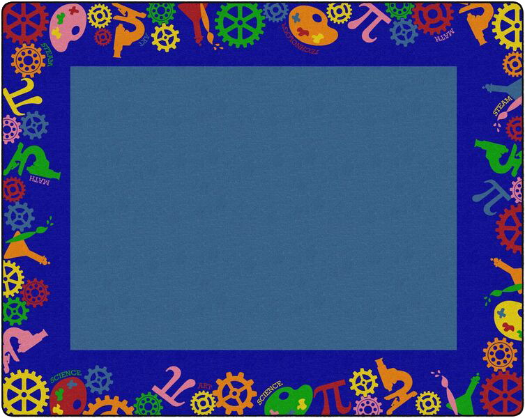 Childcraft STEAM Carpet, 10 Feet 6 Inches x 13 Feet 2 Inches, Rectangle