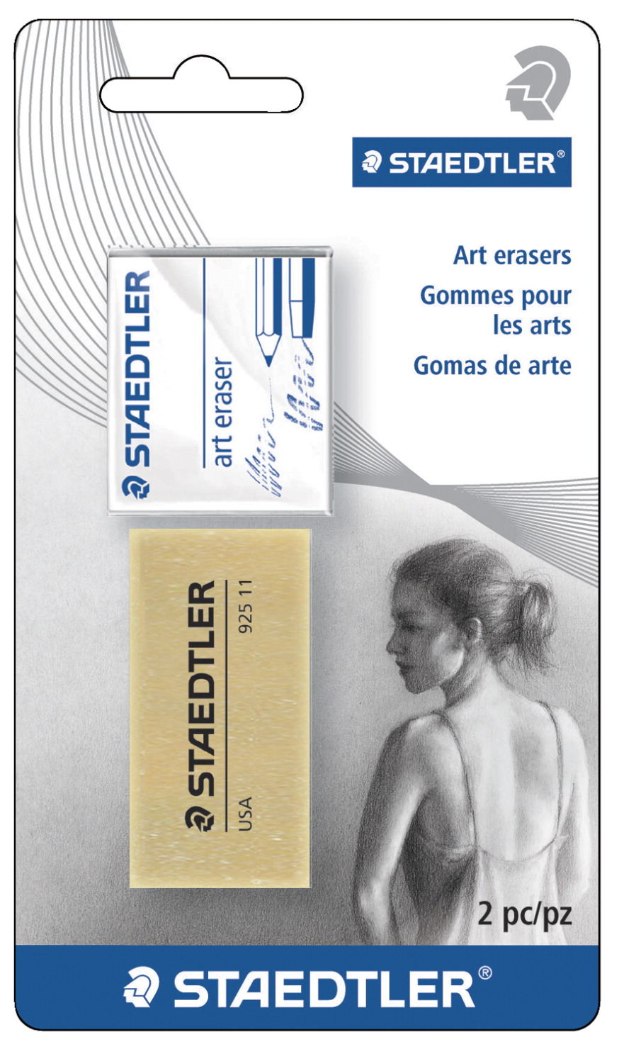 Staedtler Kneadable and Art Gum Erasers, Pack of 2
