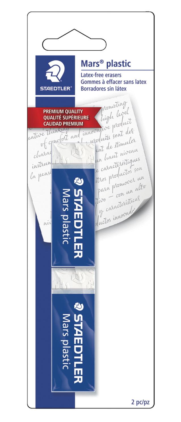 Staedtler Mars Plastic Eraser White Pack of 2