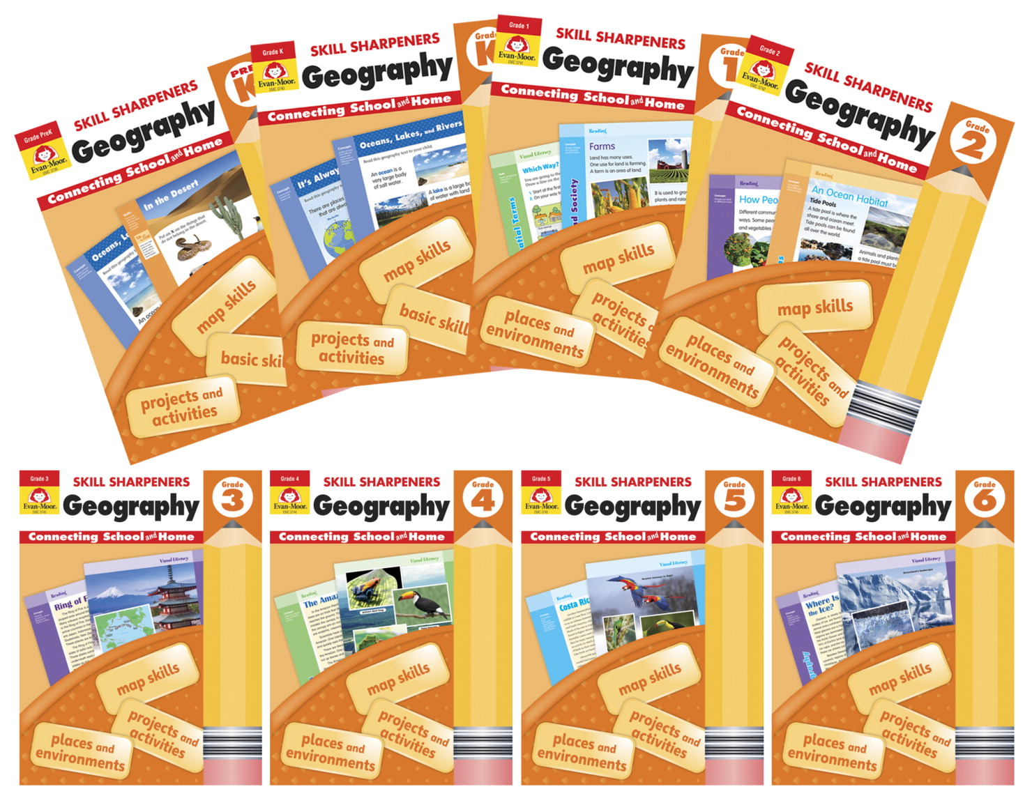 Evan-Moor Skill Sharpeners: Geography, Grade 1
