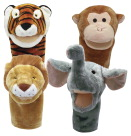 Get Ready Kids Moveable Mouth Zoo Animals, Set of 4