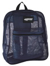 Mesh Backpack, Navy, 17 x 14 x 6-1/2 Inches