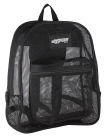 Mesh Backpack, Black, 17 x 14 x 6-1/2 Inches