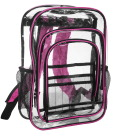 Jumbo Clear Backpack, Pink, 17-1/2 x 13 x 6-1/2 Inches