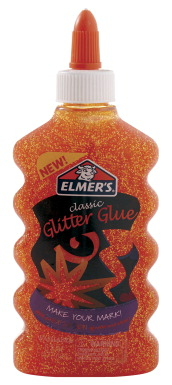 Elmer's Washable Glitter Glue, 6 Ounces, Orange