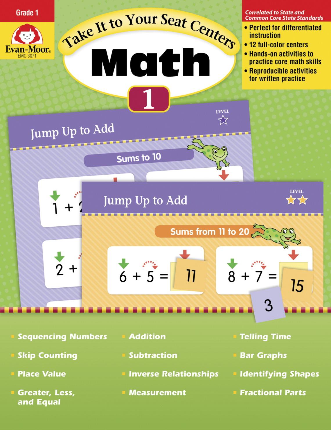 Evan-Moor Common Core Math Centers, Grade 1