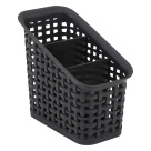 Advantus 3-Tier Plastic Weave Bin, Black