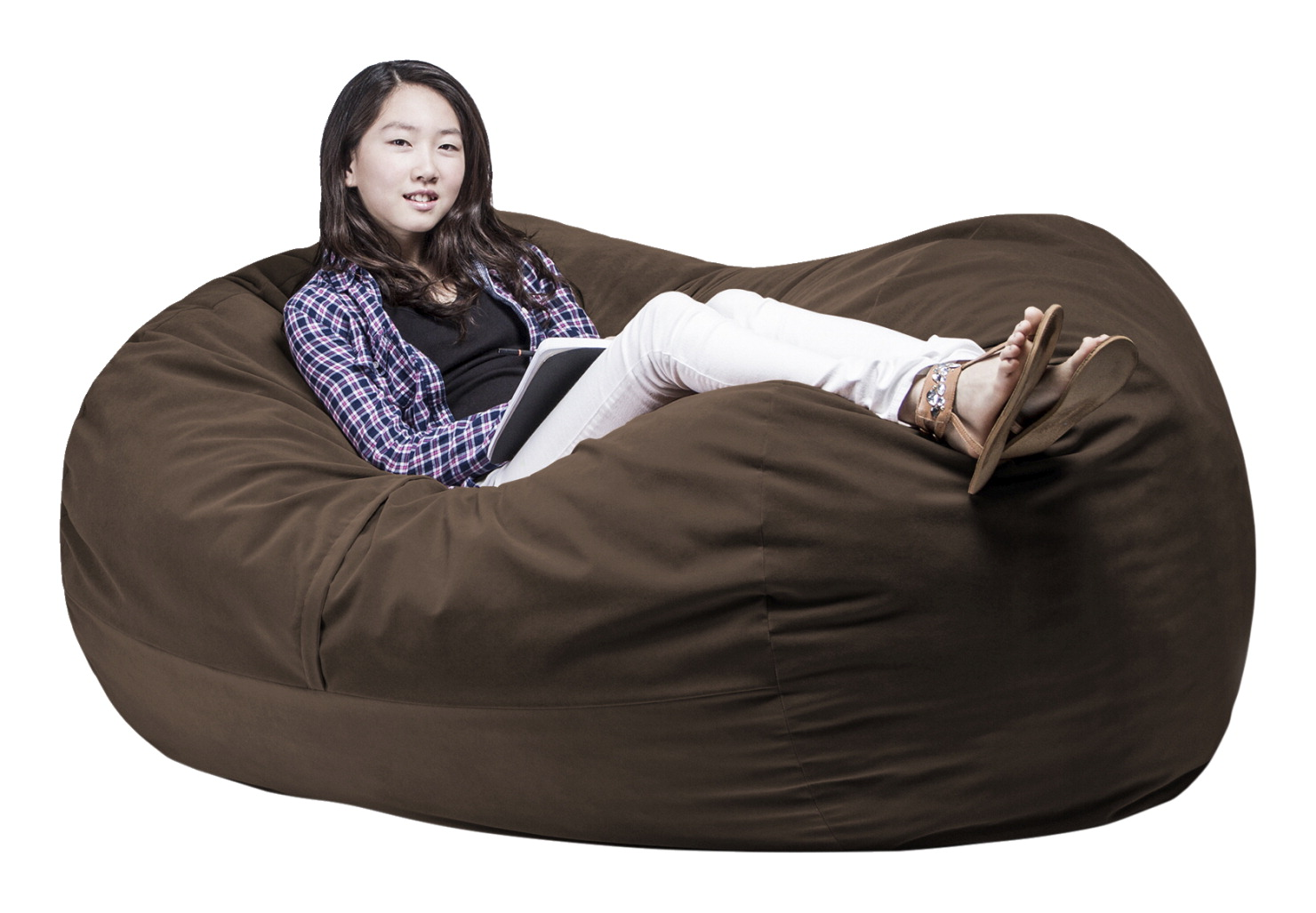 Abilitations FluffChair, X-Large, 69 Inches, Chocolate