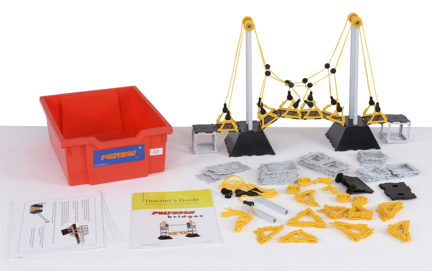 Polydron STEM Bridges, 134 Piece Individual Set
