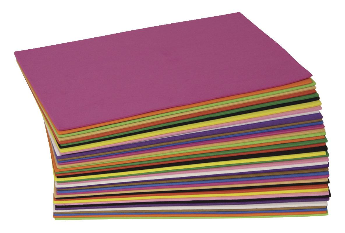WonderfoamFoam Sheet, 5-1/2 X 8-1/2 in, Assorted Color, Pack of 40