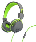 JLab Audio Neon On-Ear Headphones, Graphite/Lime