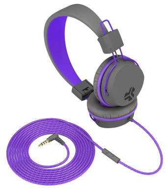 JLab Audio Neon On-Ear Headphones, Graphite/Violet