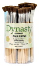 Dynasty Faux Camel Hair Brush Canister, Flat, Set of 72