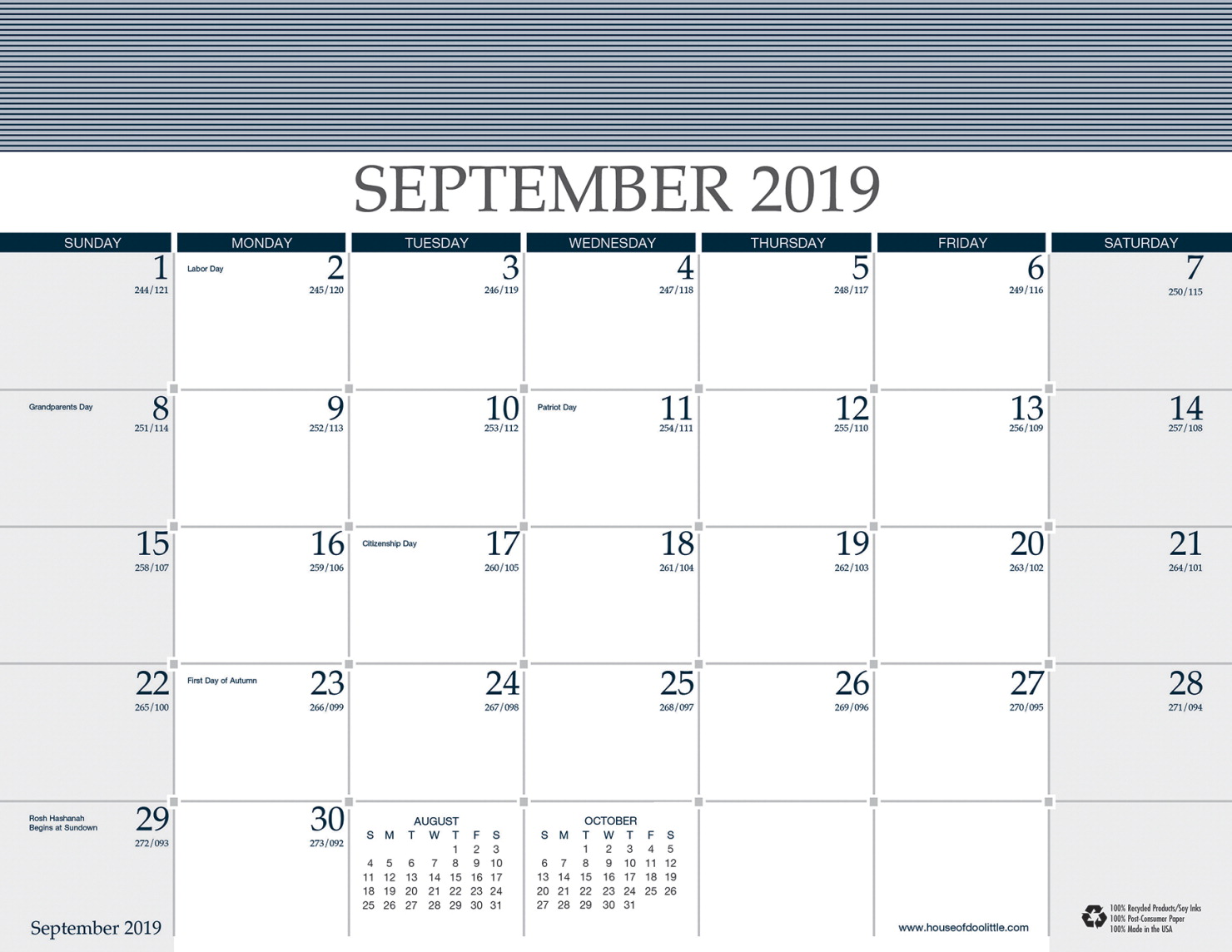 4 Month Calendar 2020 September-December House of Doolittle 16 Month Calendar with Refills, 2019 to 2020
