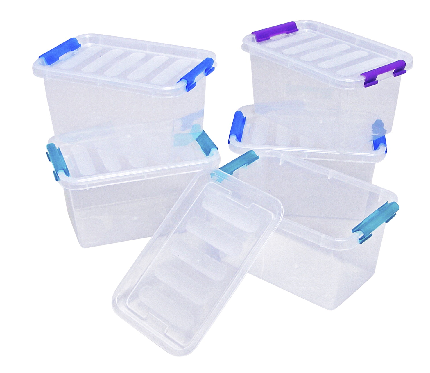 Dial Flip Storage Box With Lid Small