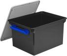 Storex Storage File Tote with Locking Handles