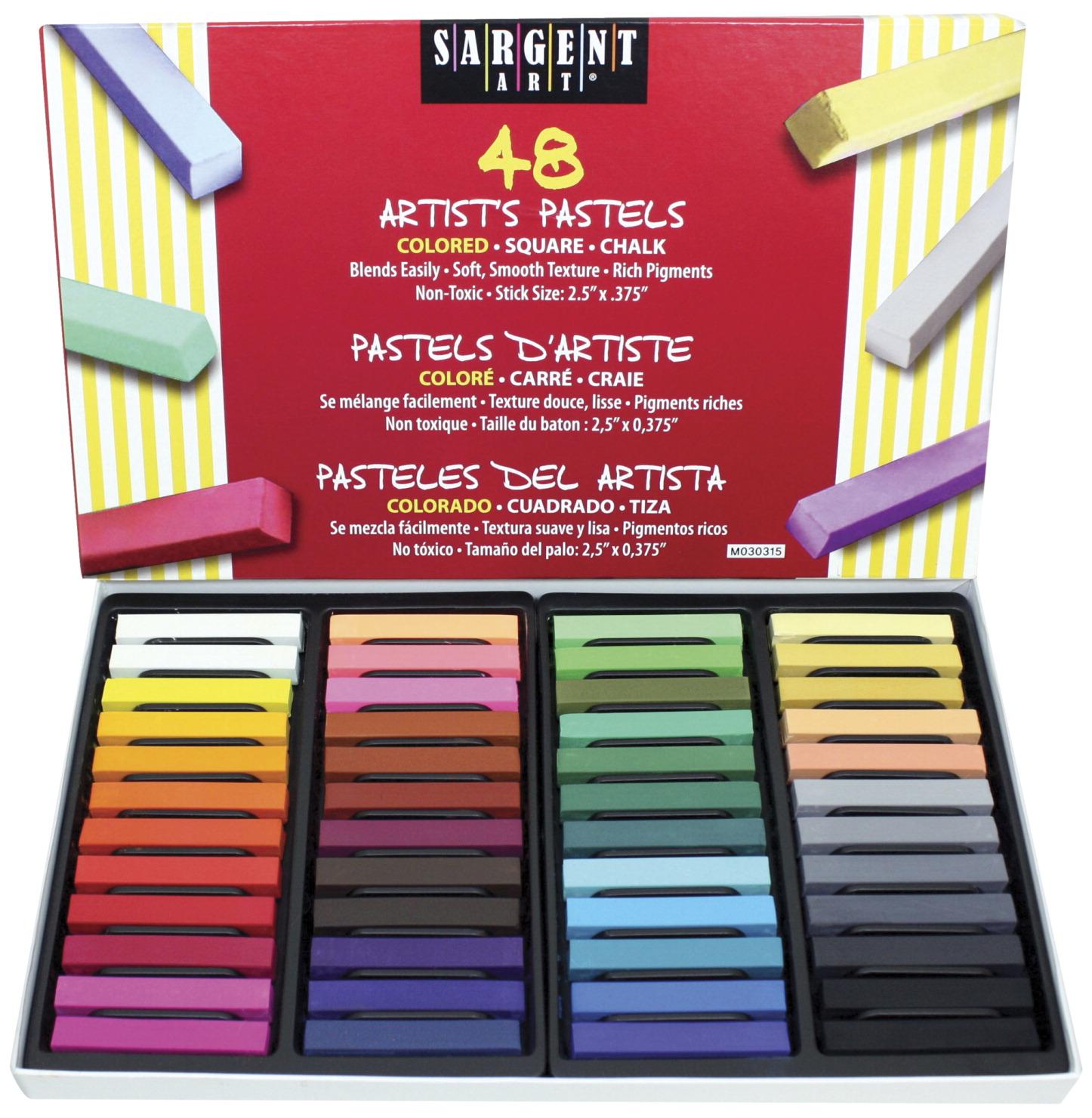 24-Color Set Sargent Art Artist Pastels 24-Color Set